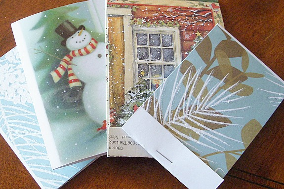 6 ways recycle your Christmas cards -