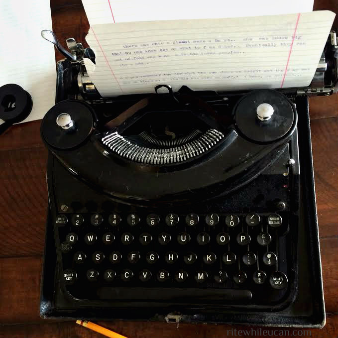 typewriter, ink, experiment, letters
