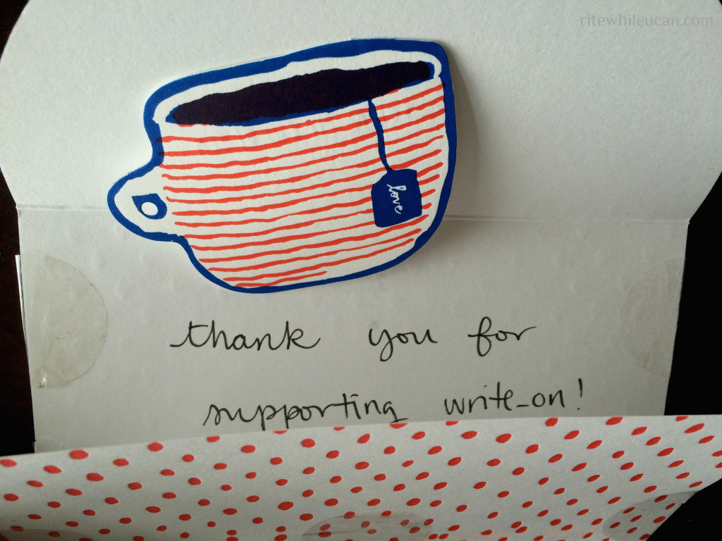 WriteOn letter writing campaign, national letter writing month, April, stationery