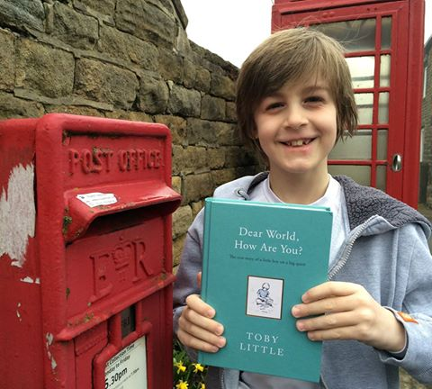 Toby is writing to the world, penpals, letters, global, letters