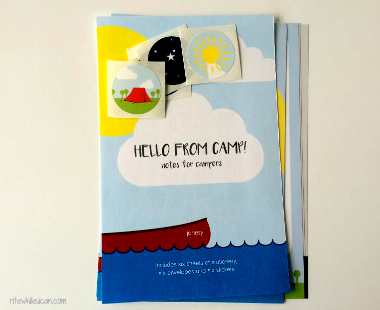 win stationery for your camper