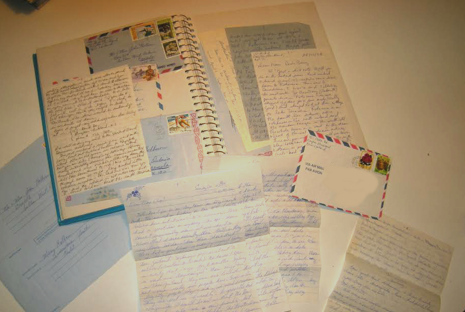 trip of a lifetime relived through letters 30 years later, handwritten, letters, postcards,