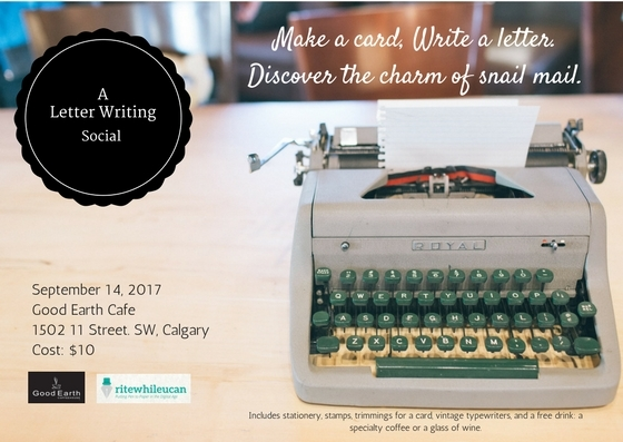 typewriters, letter writing, calgary
