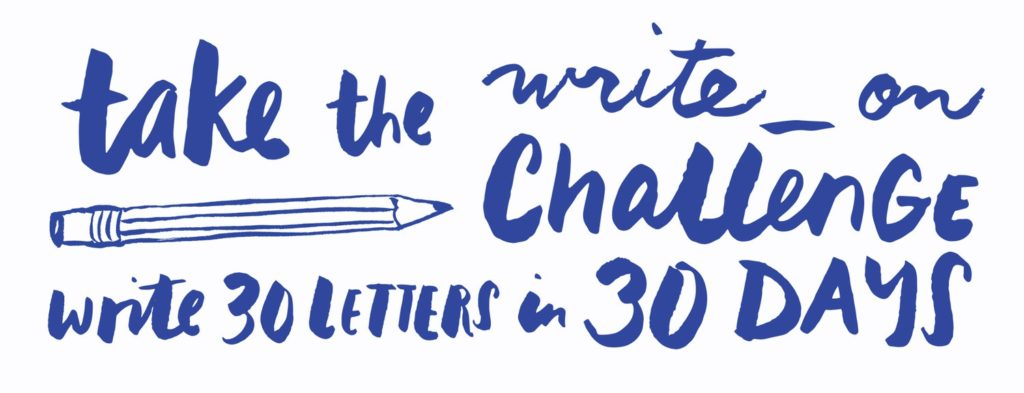 write_on letter writing campaign 2017, National Letterwriting month,