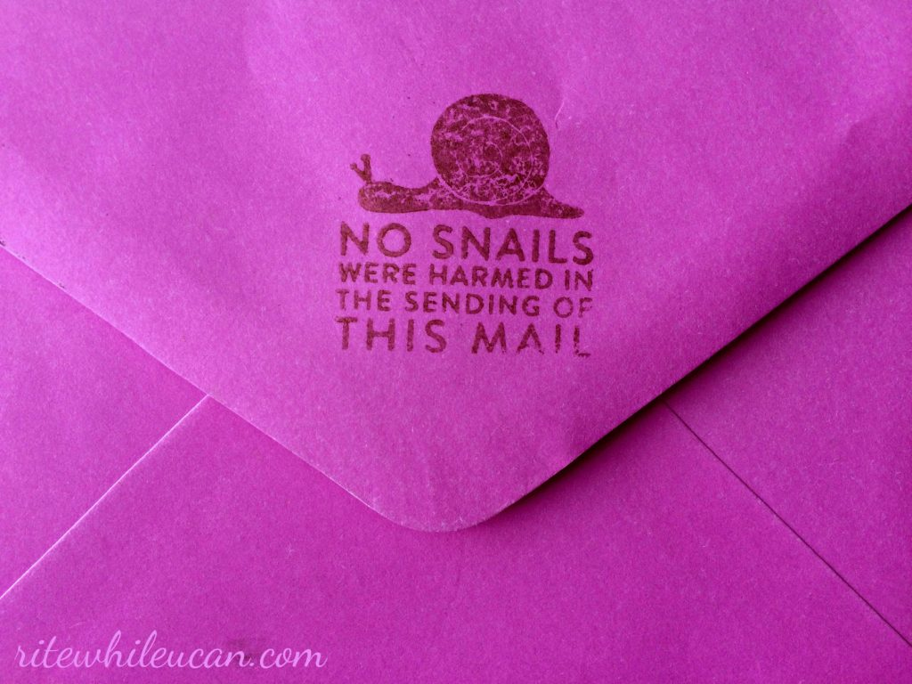 What was in my mailbox this week. No.4, snail mail, envelopes, letters