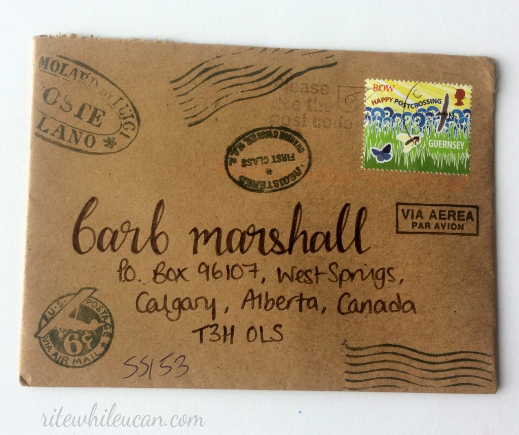 What was in my mailbox this week. No.4, snail mail, letters, envelopes