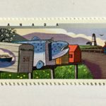 Stamps of unusual mailboxes