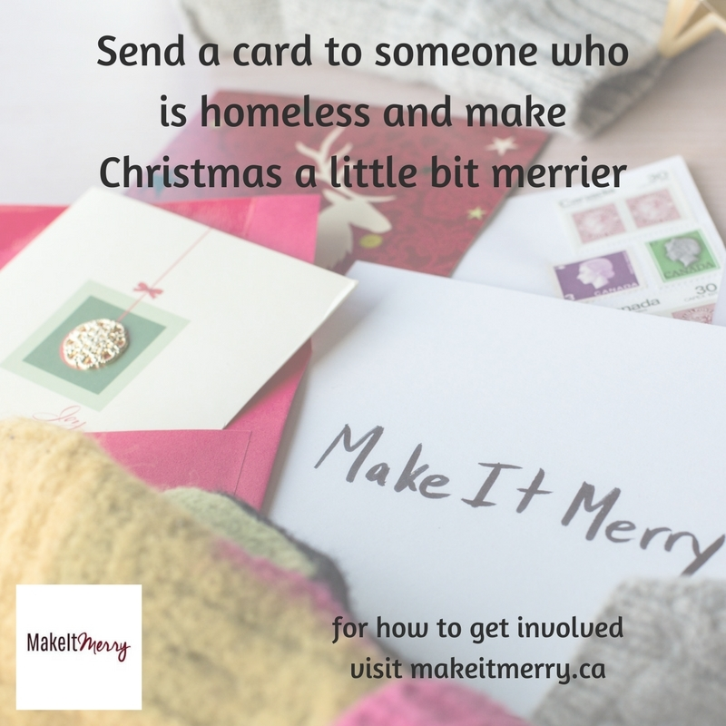 Send a Christmas card to someone who is homeless -