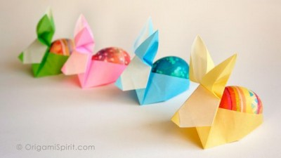 Easy DIY Origami Easter Bunny Baskets for Android - APK Download | 225x400