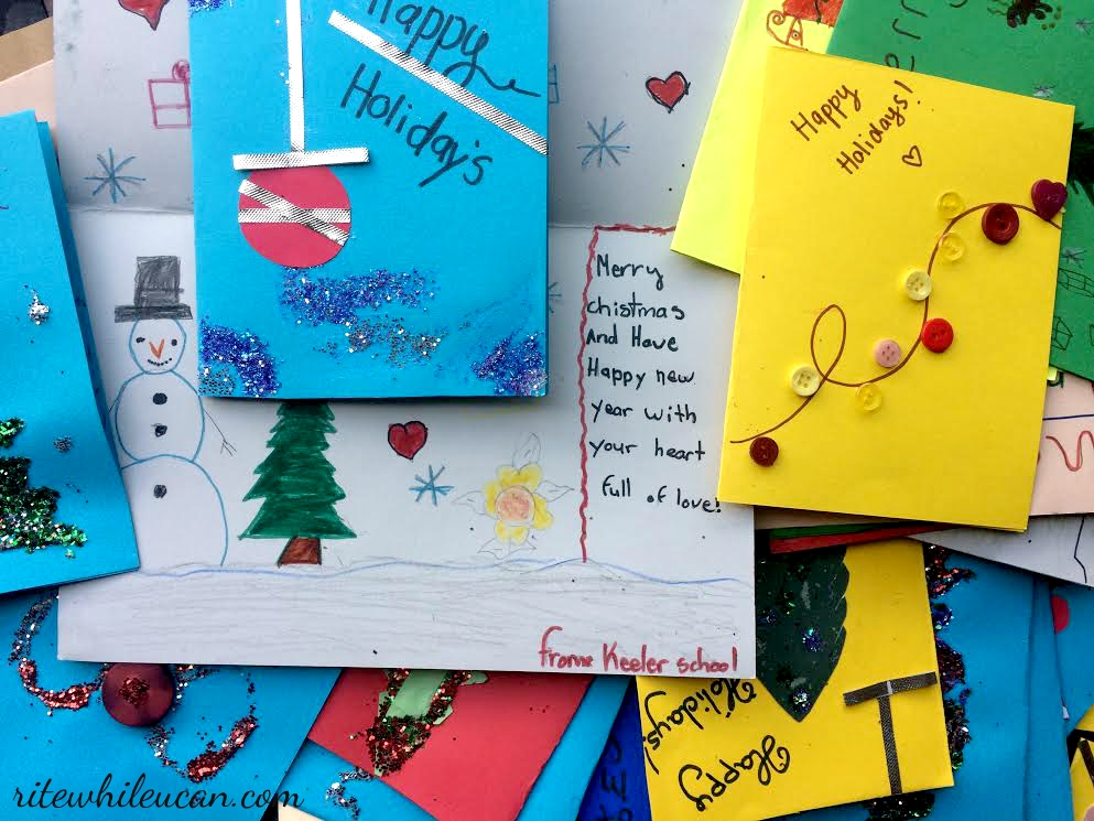 Send a Christmas card to someone who is homeless - rite while u can