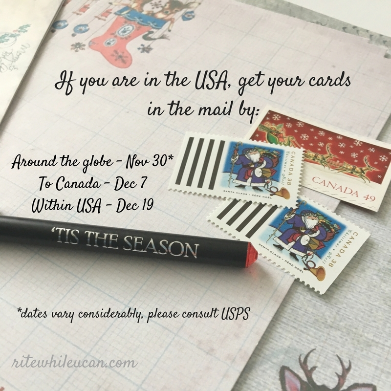 christmas card mailing deadlines - Mailing Christmas Cards